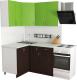 Готовая кухня Хоум Лайн Агата 1.2x1.4 (венге/зеленая мамба) -