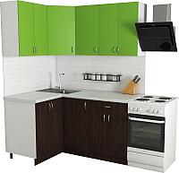 Готовая кухня Хоум Лайн Агата 1.2x1.6 (венге/зеленая мамба) -