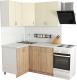 Готовая кухня Хоум Лайн Агата 1.2x1.4 (дуб сонома/ваниль) -