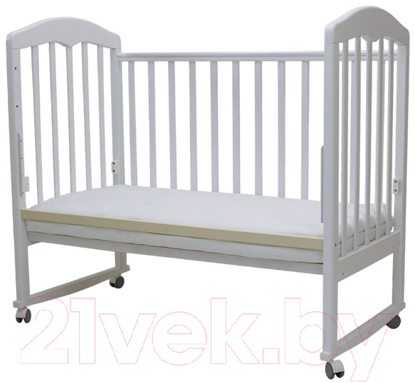 Купить Детская кроватка Топотушки, Сильвия-2 / 44 (белый), Россия, массив дерева