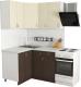 Готовая кухня Хоум Лайн Агата 1.2x1.3 (файнлайн мокка/файнлайн крем) -