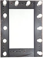 Зеркало Континент 12 ламп 60x80 (лофт) -