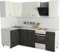 Готовая кухня Хоум Лайн Агата 1.2x1.9 (северное дерево темное/светлое) -