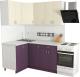 Готовая кухня Хоум Лайн Агата 1.2x1.6 (виола/ваниль) -