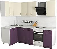 Готовая кухня Хоум Лайн Агата 1.2x1.9 (виола/ваниль) -
