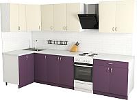 Готовая кухня Хоум Лайн Агата 1.2x2.6 (виола/ваниль) -