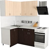 Готовая кухня Хоум Лайн Агата 1.2x1.5 (венге/дуб молочный) -