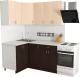 Готовая кухня Хоум Лайн Агата 1.2x1.6 (венге/дуб молочный) -