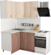 Готовая кухня Хоум Лайн Агата 1.2x1.3 (ясень шимо темный/светлый) -