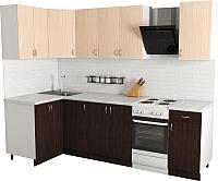 Готовая кухня Хоум Лайн Агата 1.2x2.1 (венге/дуб молочный) -