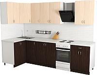 Готовая кухня Хоум Лайн Агата 1.2x2.4 (венге/дуб молочный) -
