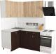 Готовая кухня Хоум Лайн Агата 1.2x1.6 (венге/дуб сонома) -