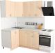 Готовая кухня Хоум Лайн Агата 1.2x1.6 (дуб молочный) -