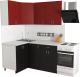 Готовая кухня Хоум Лайн Агата 1.2x1.6 (черный/красный) -