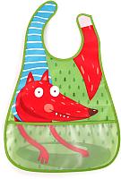 Нагрудник детский Happy Baby Waterproof Baby Bib 16005 (лиса) -