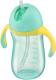 Поильник Happy Baby 14010 (мятный, с трубочкой и ручками) -