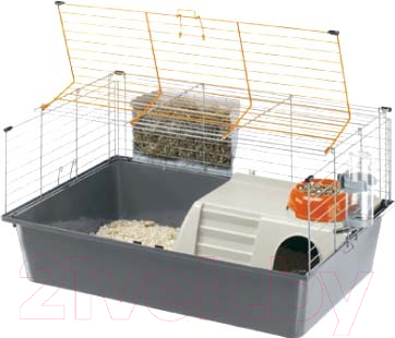Купить Клетка для грызунов Ferplast, Cavie 15 Tris / 57077470 (серый), Италия, белый