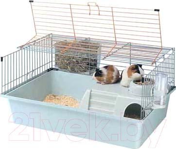Купить Клетка для грызунов Ferplast, Cavie 15 Tris / 57077470 (голубой), Италия, белый