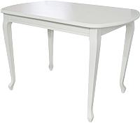Обеденный стол Аврора Прага 120x80 (Тон 9/эмаль белая) -