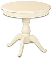 Обеденный стол Аврора Фабрицио-1 D100 (Тон 10/слоновая кость) -