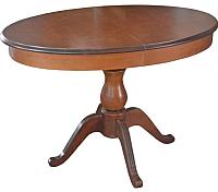Обеденный стол Аврора Фабрицио-1 Элипс (Тон 7/орех темный) -