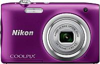 Компактный фотоаппарат Nikon Coolpix A100 (фиолетовый) -