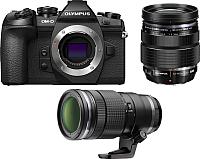 Беззеркальный фотоаппарат Olympus E-M1 Mark II Kit 12-40mm Pro + 40-150mm Pro  -