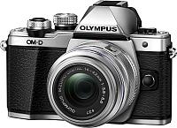 Беззеркальный фотоаппарат Olympus E-M10 Mark II Kit 14-42mm II R (серебристый) -