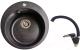 Мойка кухонная Gerhans A05 + смеситель LL5936B-22 (черный) -