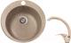 Мойка кухонная Gerhans A05 + смеситель LL5936B-21 (песочный) -