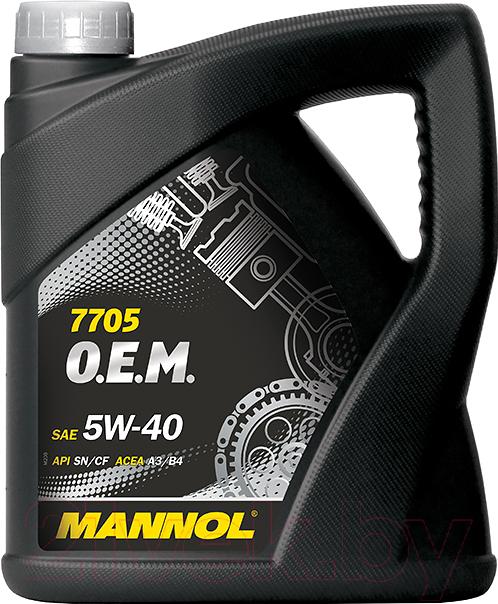 Купить Моторное масло Mannol, OEM 5W40 SN/CF / MN7705-4 (4л), Китай