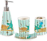 Набор аксессуаров для ванной Benedomo Aquamarine -