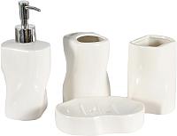 Набор аксессуаров для ванной Benedomo White Pearl -
