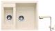 Мойка кухонная Gerhans C01 + смеситель HU01K4055-3-20 (бежевый) -