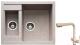 Мойка кухонная Gerhans C01 + смеситель HU01K4055-3-21 (песочный) -