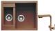 Мойка кухонная Gerhans C01 + смеситель HU01K4055-3-23 (терракот) -
