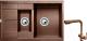 Мойка кухонная Gerhans C10 + смеситель HU01K4055-3-23 (терракот) -