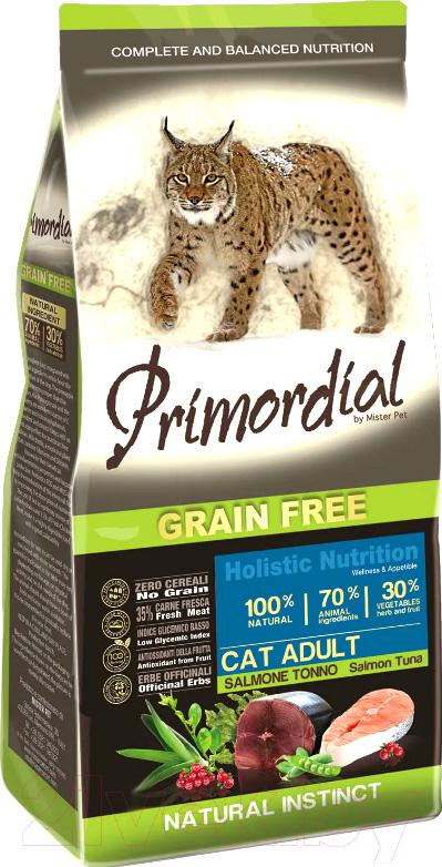 Корм для кошек Primordial, Cat Adult Salmon & Tuna / MGSP1206 (6кг), Италия  - купить со скидкой