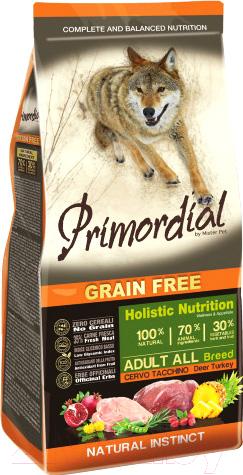 Купить Корм для собак Primordial, Dog Adult Deer & Turkey MSP5612 (12кг), Италия