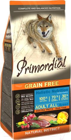 Корм для собак Primordial, Dog Adult Trout & Duck MSP5412 (12кг), Италия  - купить со скидкой