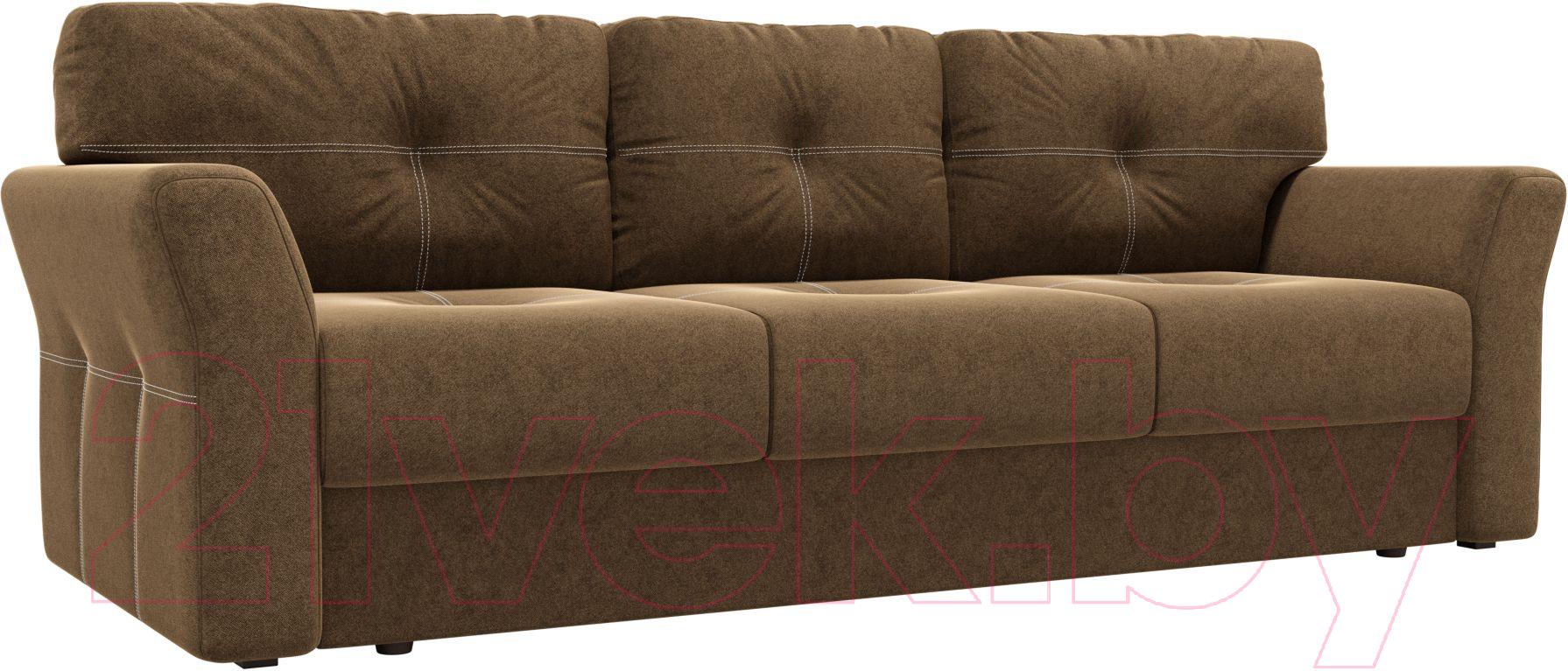 Купить Диван Лига Диванов, Манхеттен 116 / 58648 (микровельвет, коричневый), Россия