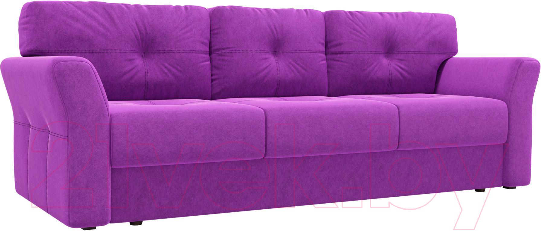 Купить Диван Лига Диванов, Манхеттен 116 / 58649 (микровельвет, фиолетовый), Россия