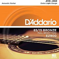 Струны для акустической гитары D'Addario EZ900 10-50 -