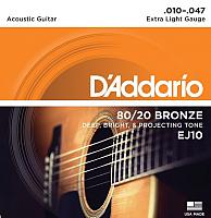 Струны для акустической гитары D'Addario EJ10 -