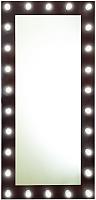 Зеркало интерьерное Континент 26 ламп 80x165 (шоколадный) -