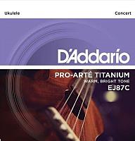 Струны для укулеле D'Addario EJ87C Titanium Concert -