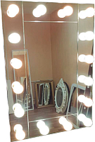 Зеркало интерьерное Континент 12 ламп 60x80 (зеркальное) -