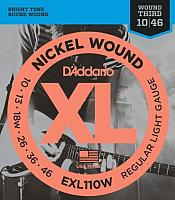 Струны для электрогитары D'Addario EXL110W Regular Light Wound 10-46 (никель) -