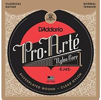 Струны для классической гитары D'Addario EJ45 Normal Tension Silver -