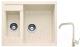Мойка кухонная Gerhans C01 + смеситель HU01K4698-20 (бежевый) -